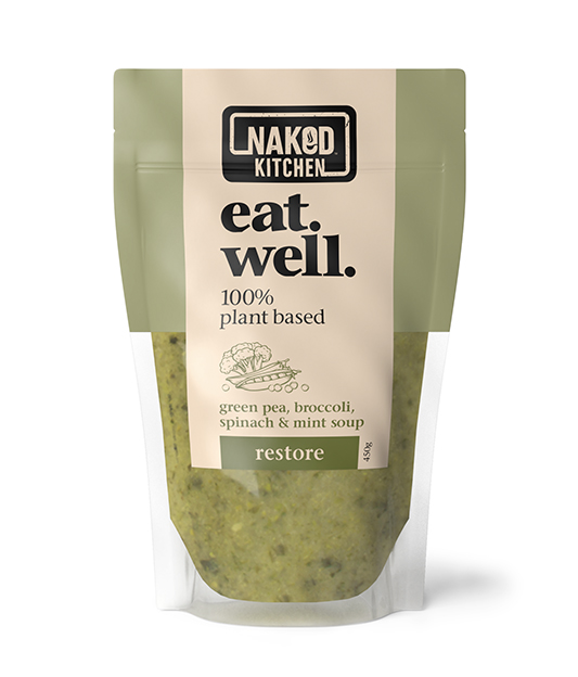 EAT WELL GREEN PEA, BROCCOLI, SPINACH & MINT SOUP Image